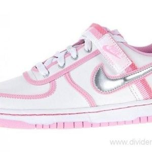 Nike🔥Vandal Low Pink & White Leather Youth Shoes